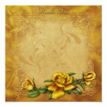 Golden Rose Thank You Card Personalized Invite