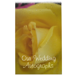 Golden Rose Wedding Calendar