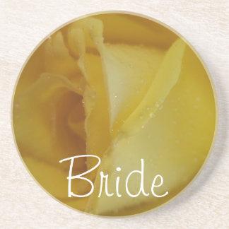 Golden Rose Wedding Coasters