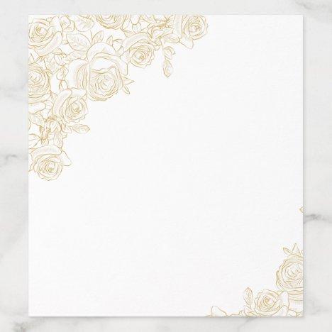 Golden Roses Envelope Liner