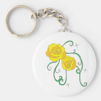 Golden Roses Keychain