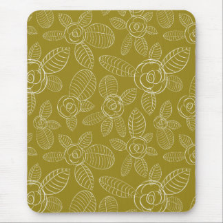 Golden Roses Mouse Pad