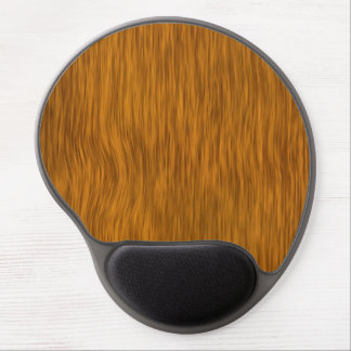 Golden Rough Wood Texture Background Gel Mouse Pad