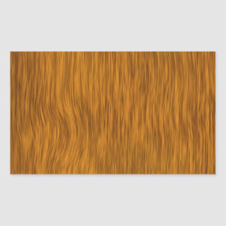 Golden Rough Wood Texture Background Rectangular Sticker