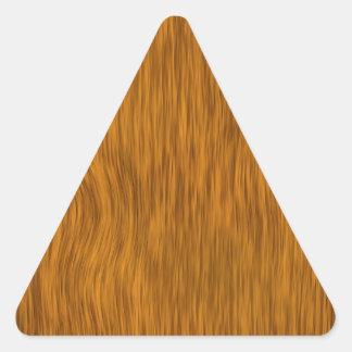 Golden Rough Wood Texture Background Triangle Sticker