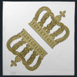 "Golden Royal Crown II   your backgr. &amp; ideas Cloth Napkin<br><div class=""desc"">Luxury Graphic Design by EDDA Froehlich 