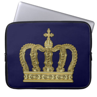 Golden Royal Crown II + your backgr. & ideas Computer Sleeve