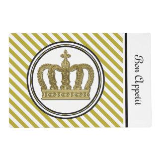 Golden Royal Crown II + your backgr. & ideas Placemat