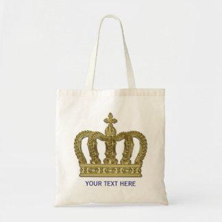 Golden Royal Crown II + your backgr. & ideas Tote Bag