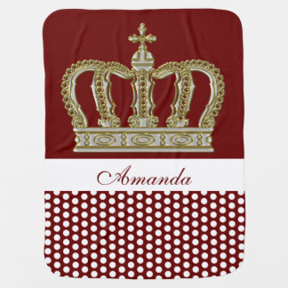 Golden Royal Crown III + your backgr. & ideas Baby Blanket
