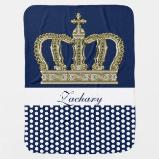 Golden Royal Crown III + your backgr. & ideas Receiving Blanket