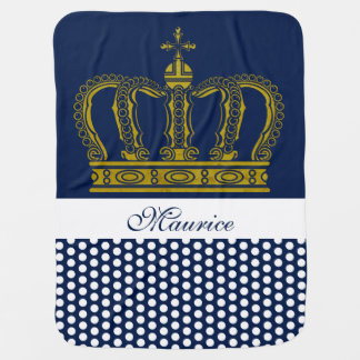 Golden Royal Crown + your backgr. & ideas Baby Blanket