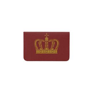 Golden Royal Crown + your backgr. & ideas Business Card Holder