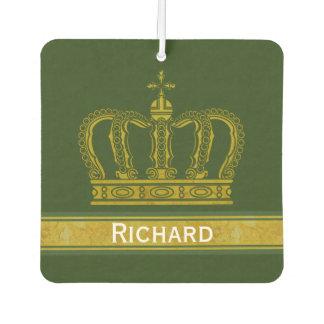 Golden Royal Crown + your backgr. & ideas Car Air Freshener