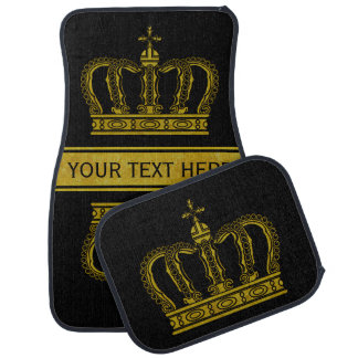 Golden Royal Crown + your backgr. & ideas Car Floor Mat
