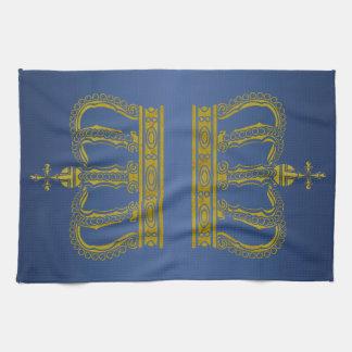 Golden Royal Crown + your backgr. & ideas Kitchen Towel