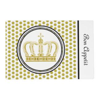Golden Royal Crown + your backgr. & ideas Placemat