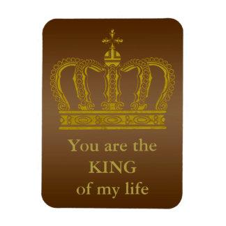Golden Royal Crown + your backgr. & ideas Rectangular Photo Magnet