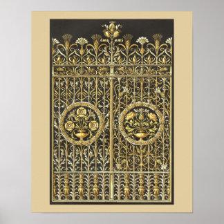 Golden Royal Gate Poster
