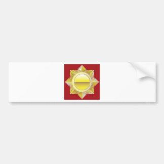 Golden Royal Medal Blank Vector Bumper Sticker