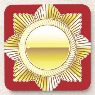 Golden Royal Medal Blank Vector Coaster
