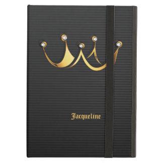 Golden Royal Queen Crown Black iPad Air Case