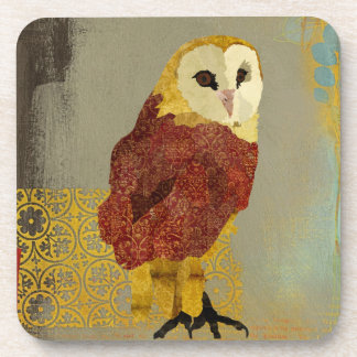 Golden Ruby Owl Coaster
