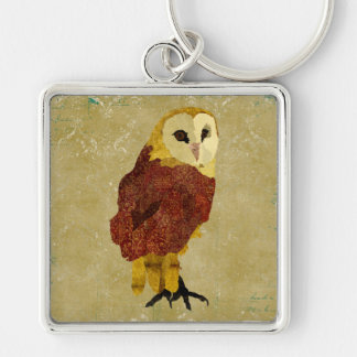 Golden Ruby Owl Keychain