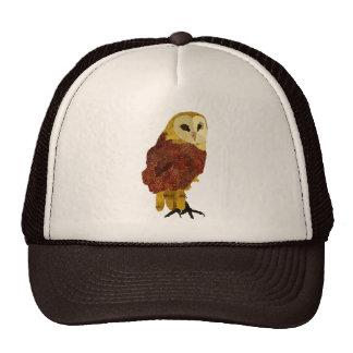 Golden Ruby Owl Lid Mesh Hat
