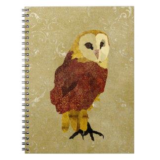 Golden Ruby Owl Notebook