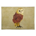 Golden Ruby Owl Placemat