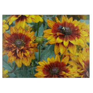 Golden Rudbeckias Floral Cutting Board