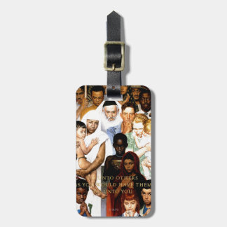 Golden Rule (Do unto others) by Norman Rockwell Bag Tag