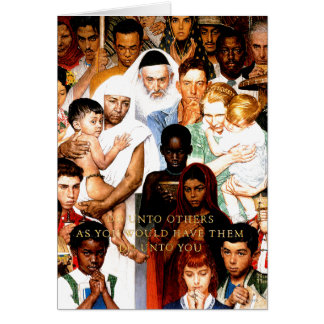Golden Rule (Do unto others) by Norman Rockwell Card