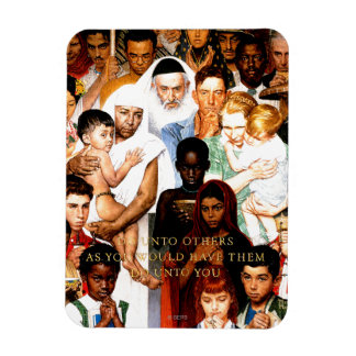 Golden Rule (Do unto others) by Norman Rockwell Magnet