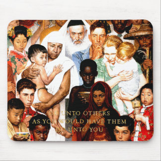 Golden Rule (Do unto others) by Norman Rockwell Mouse Pad