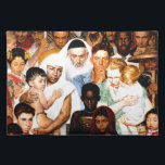 """Golden Rule (Do unto others) by Norman Rockwell Placemat<br><div class=""""desc"""">Golden Rule (Do unto others) by Norman Rockwell 