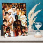 """Golden Rule (Do unto others) by Norman Rockwell Plaque<br><div class=""""desc"""">Golden Rule (Do unto others) by Norman Rockwell 