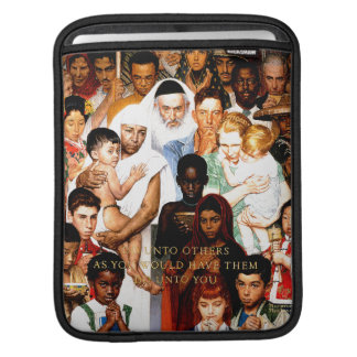 Golden Rule (Do unto others) by Norman Rockwell Sleeve For iPads