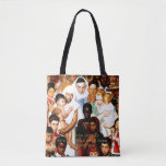 Golden Rule (Do unto others) by Norman Rockwell Tote Bag