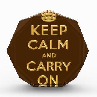 Golden Rule Keep Calm &-Carry-on Award