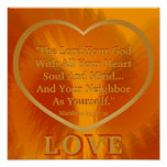 Golden Rule On Fiery Angelic Wings Poster -Cust.