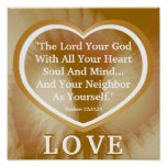Golden Rule On White Angelic Wings Poster -