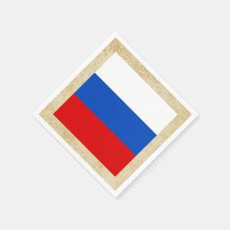 Golden Russia Flag Paper Napkin
