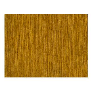 Golden Rustic Grainy Wood Background Postcard
