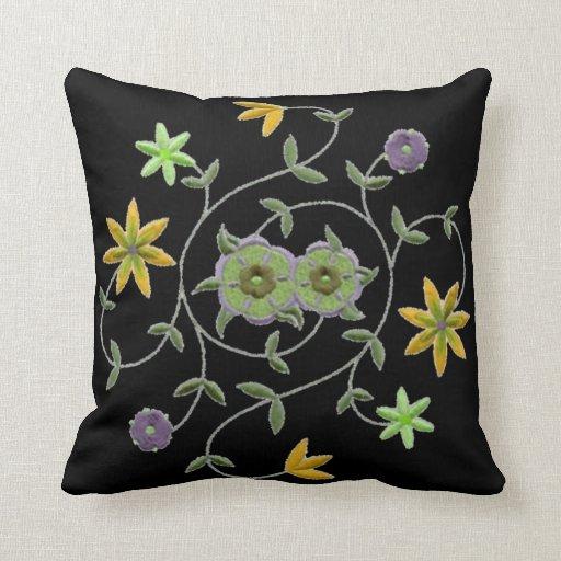 Golden Sage Spring Flower Garden Pillows