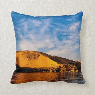 Golden Sahara Over Egyptian Nile Pillows