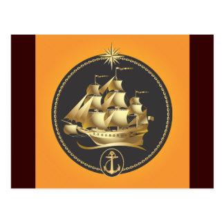 Golden-Sailboat.ai Postcard