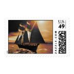 Golden Sails Postage Stamp