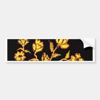 Golden Sakura Art 2 Bumper Sticker